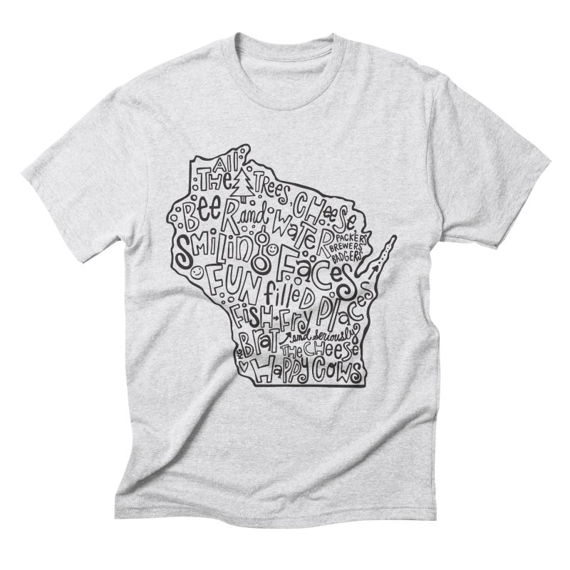 Wisconsin Men's Triblend T-Shirt by kimgeiserstudios's Artist Shop
