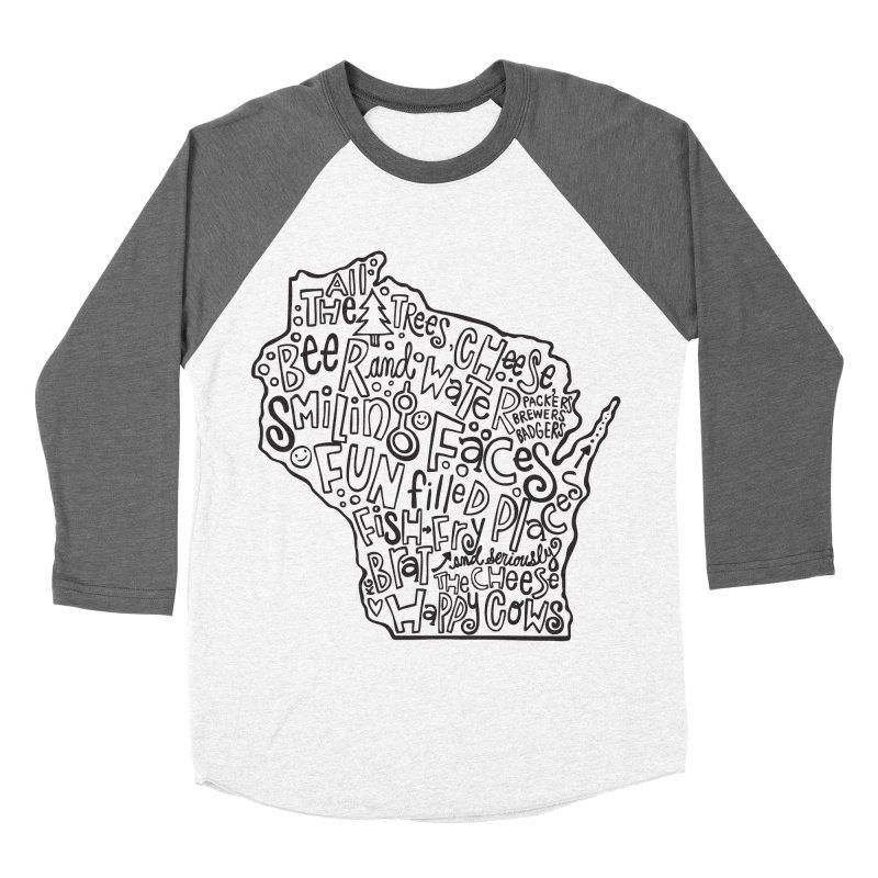 Wisconsin Women's Baseball Triblend T-Shirt by kimgeiserstudios's Artist Shop