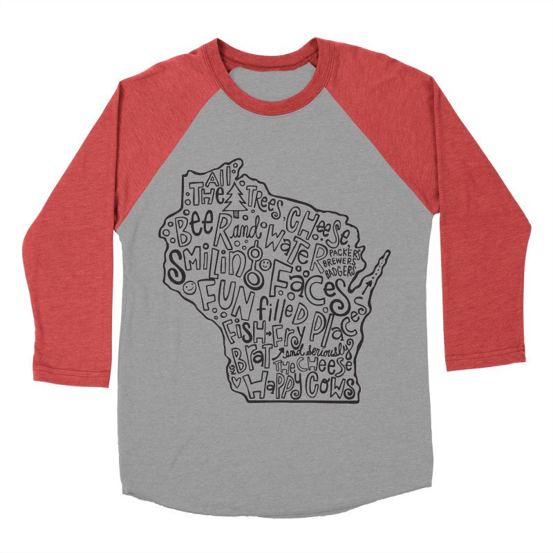 Wisconsin Women's Baseball Triblend Longsleeve T-Shirt by kimgeiserstudios's Artist Shop