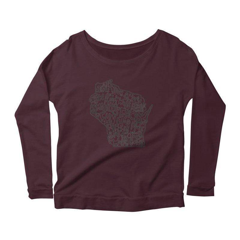 Wisconsin Women's Scoop Neck Longsleeve T-Shirt by kimgeiserstudios's Artist Shop