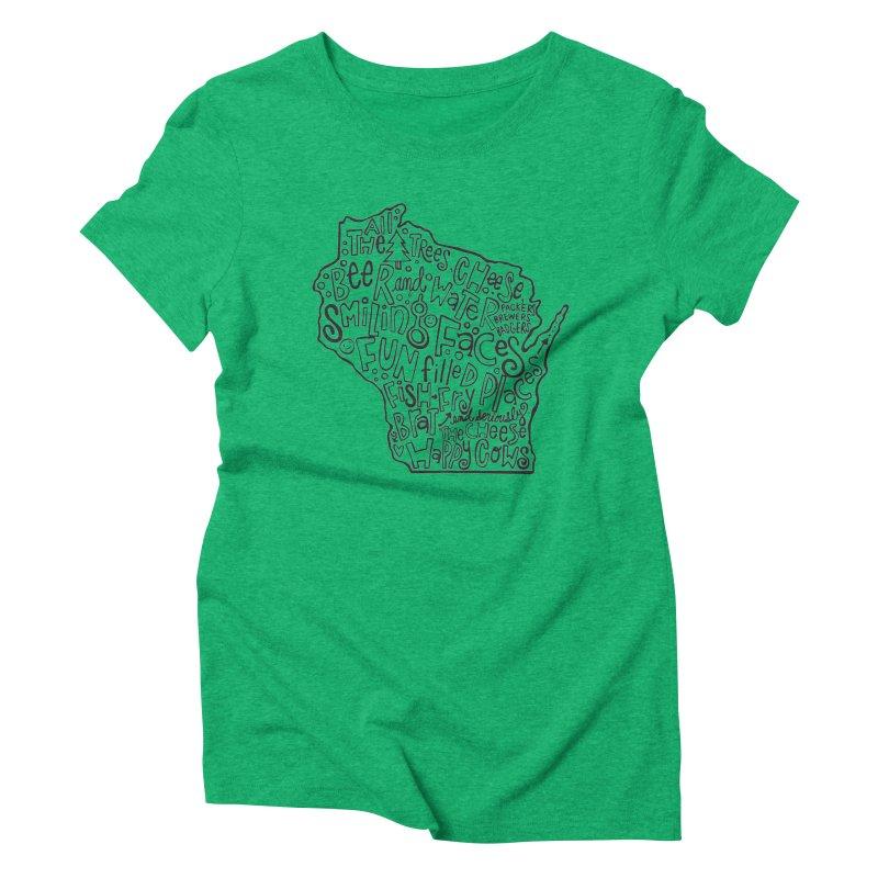 Wisconsin Women's Triblend T-Shirt by kimgeiserstudios's Artist Shop