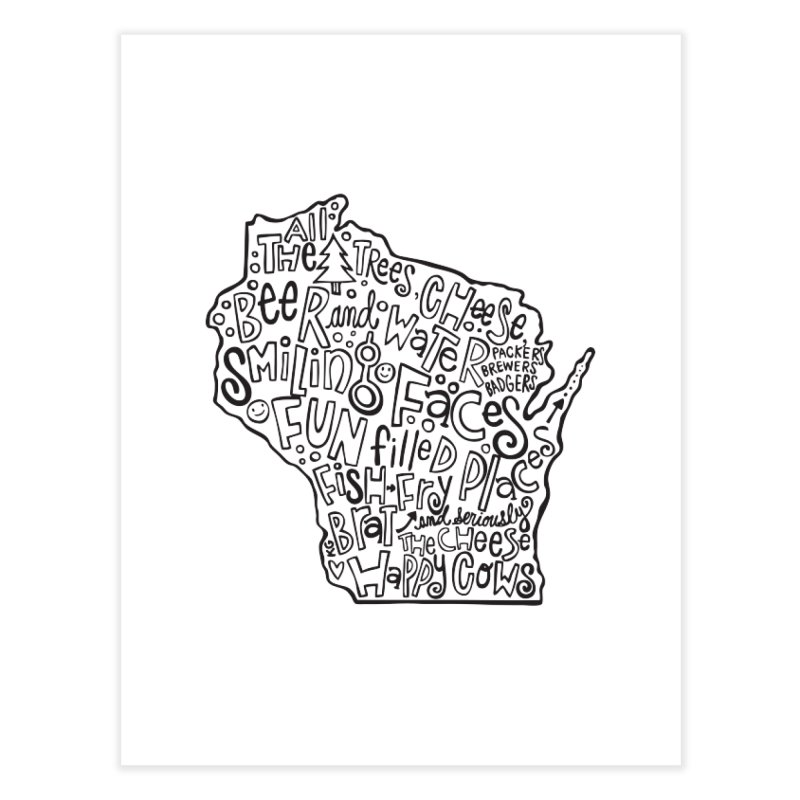 Wisconsin Home Fine Art Print by kimgeiserstudios's Artist Shop