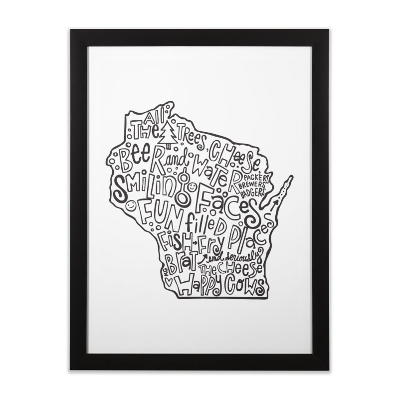 Wisconsin Home Framed Fine Art Print by kimgeiserstudios's Artist Shop