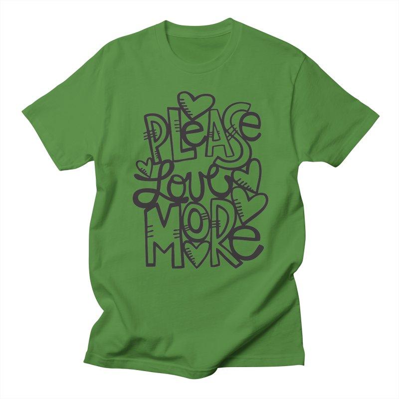 please love more Men's Regular T-Shirt by kimgeiserstudios's Artist Shop