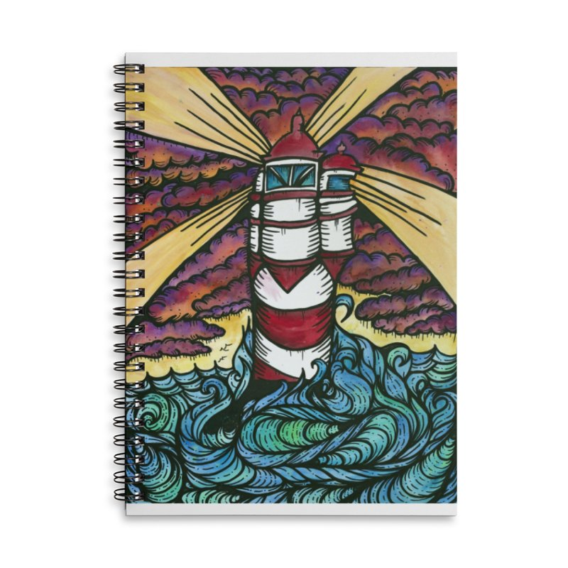 Light house  Accessories Lined Spiral Notebook by kimkirch's Artist Shop