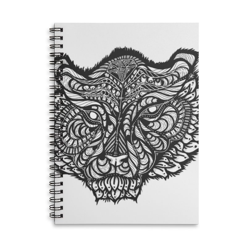 Tiger Tiger Accessories Lined Spiral Notebook by kimkirch's Artist Shop