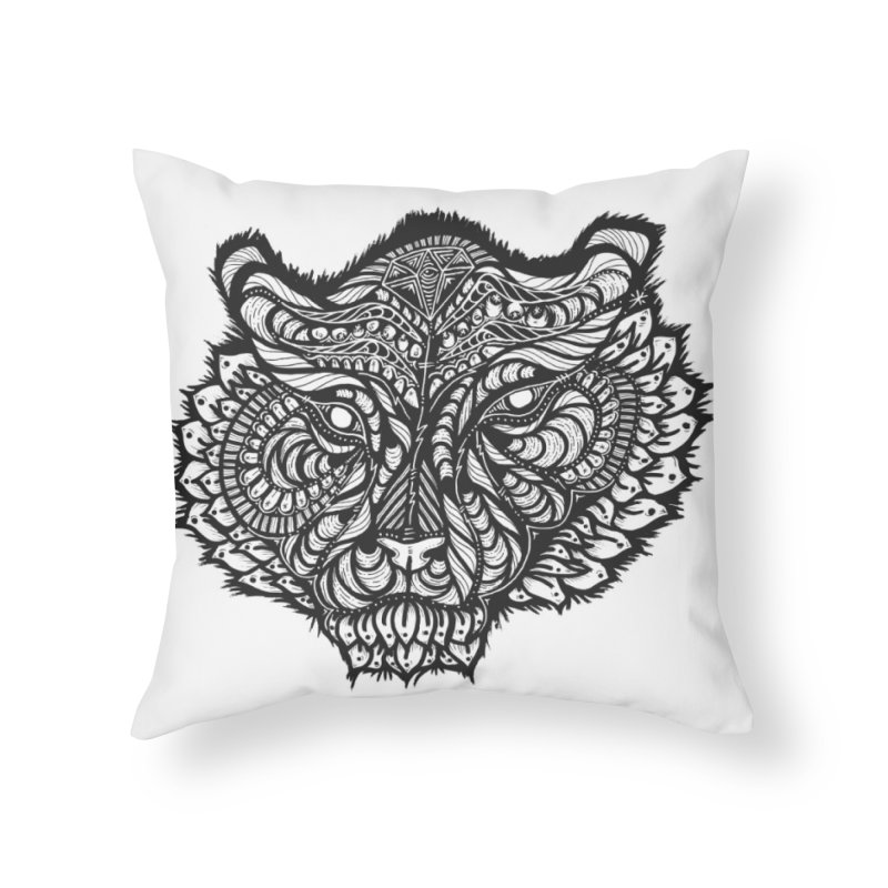 Tiger Tiger Home Throw Pillow by kimkirch's Artist Shop