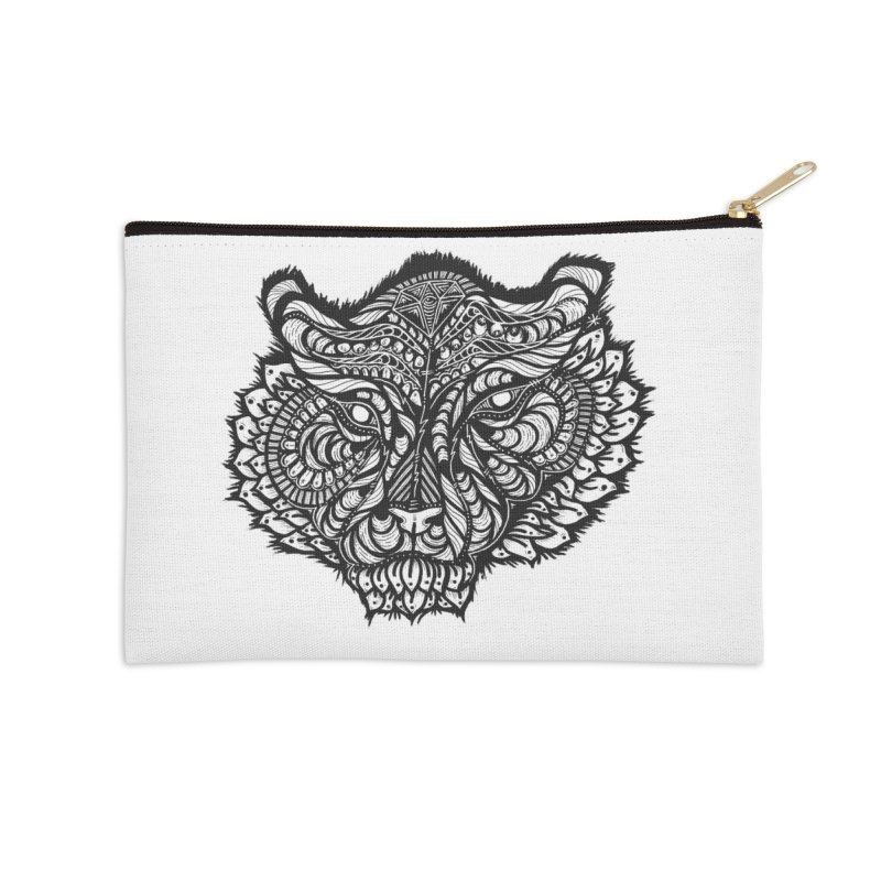 Tiger Tiger Accessories Zip Pouch by kimkirch's Artist Shop