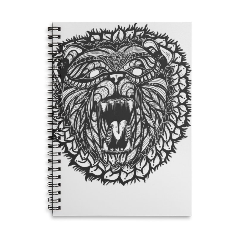 Bear Accessories Lined Spiral Notebook by kimkirch's Artist Shop