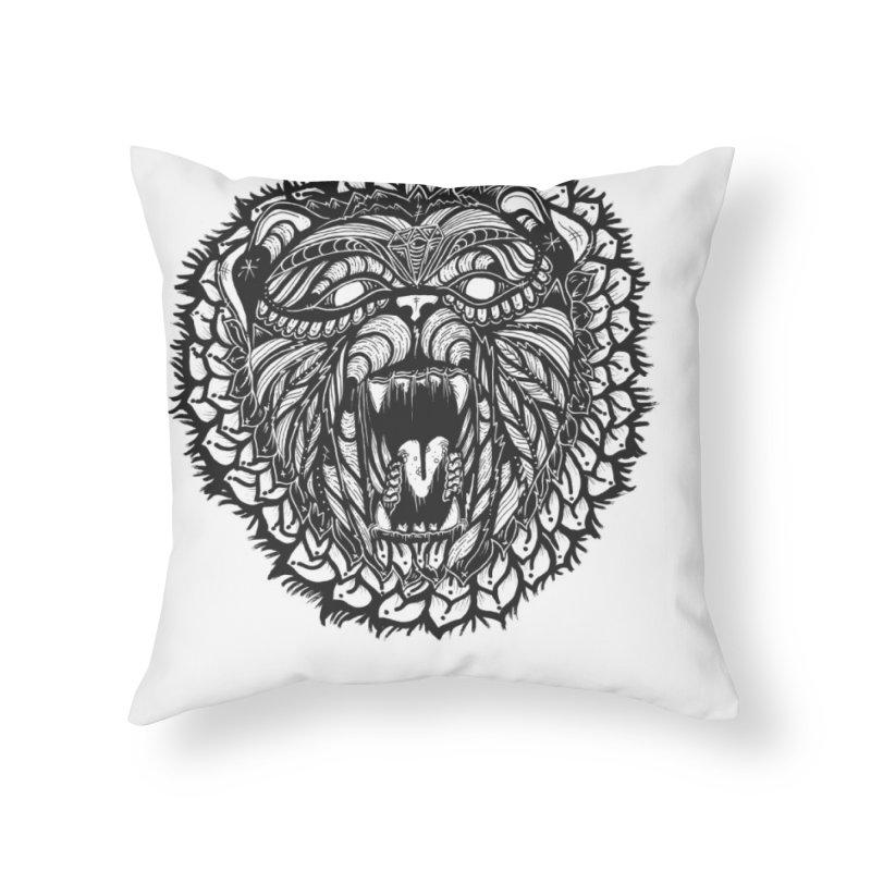 Bear Home Throw Pillow by kimkirch's Artist Shop