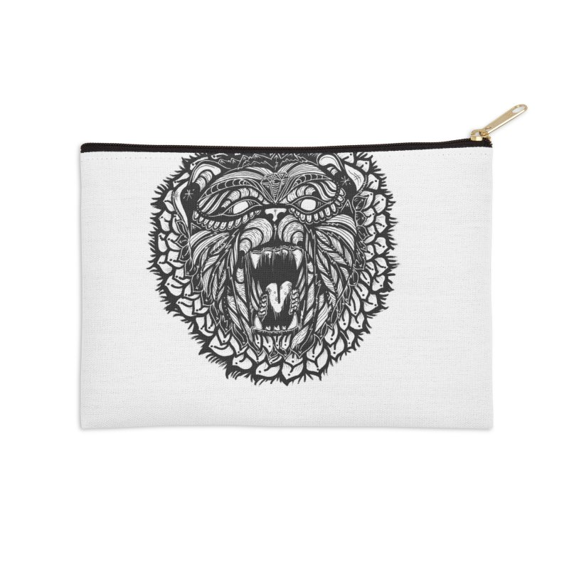 Bear Accessories Zip Pouch by kimkirch's Artist Shop