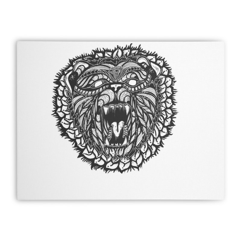 Bear Home Stretched Canvas by kimkirch's Artist Shop