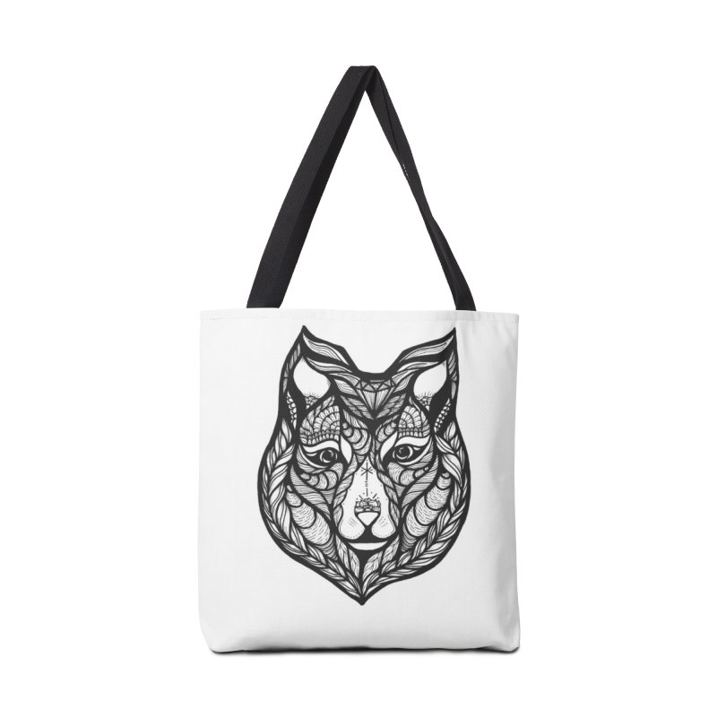 Wolf Accessories Tote Bag Bag by kimkirch's Artist Shop