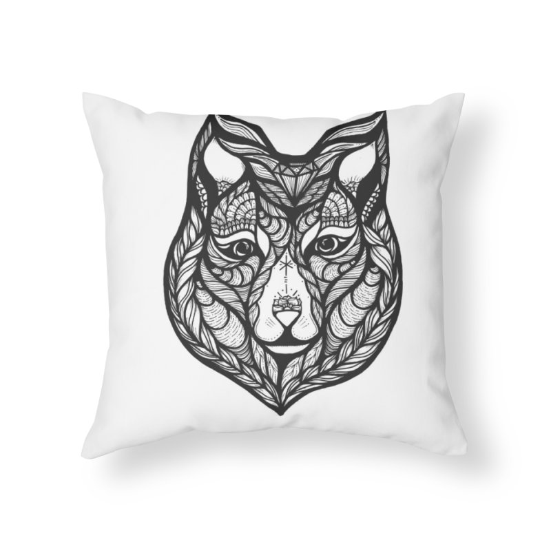 Wolf Home Throw Pillow by kimkirch's Artist Shop