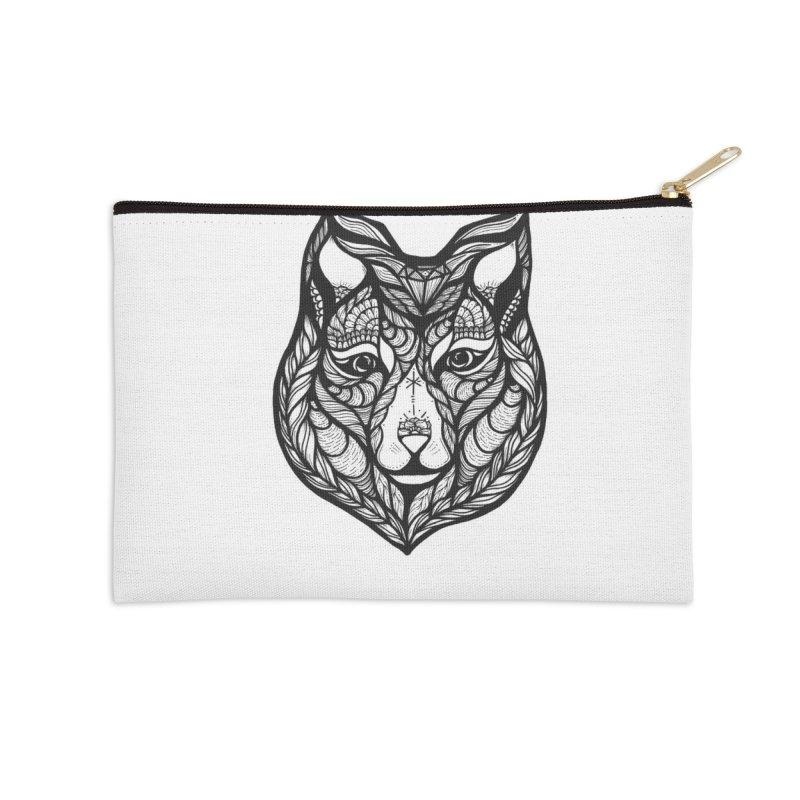 Wolf Accessories Zip Pouch by kimkirch's Artist Shop