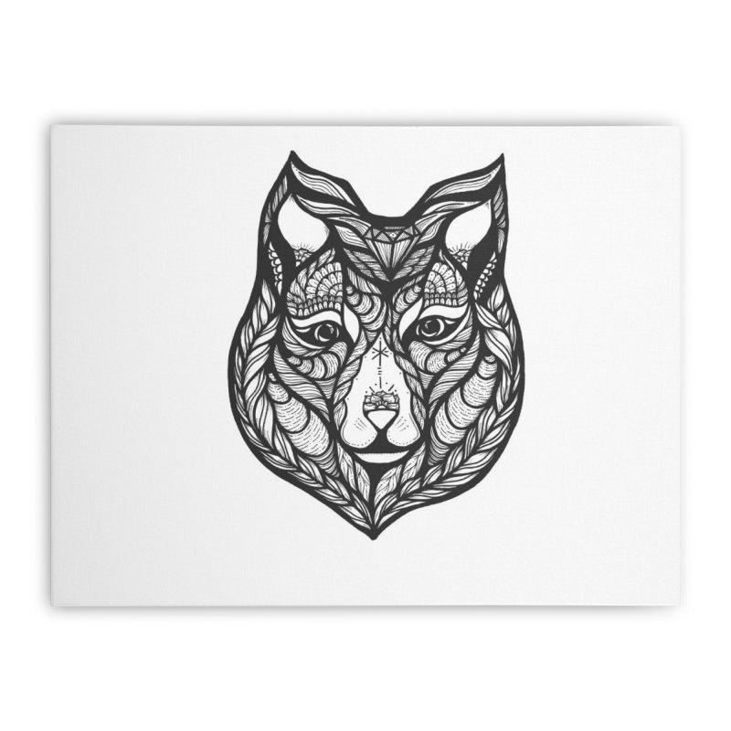 Wolf Home Stretched Canvas by kimkirch's Artist Shop