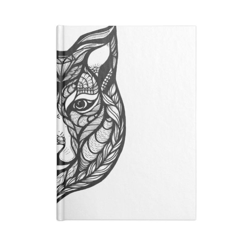Wolf Accessories Lined Journal Notebook by kimkirch's Artist Shop
