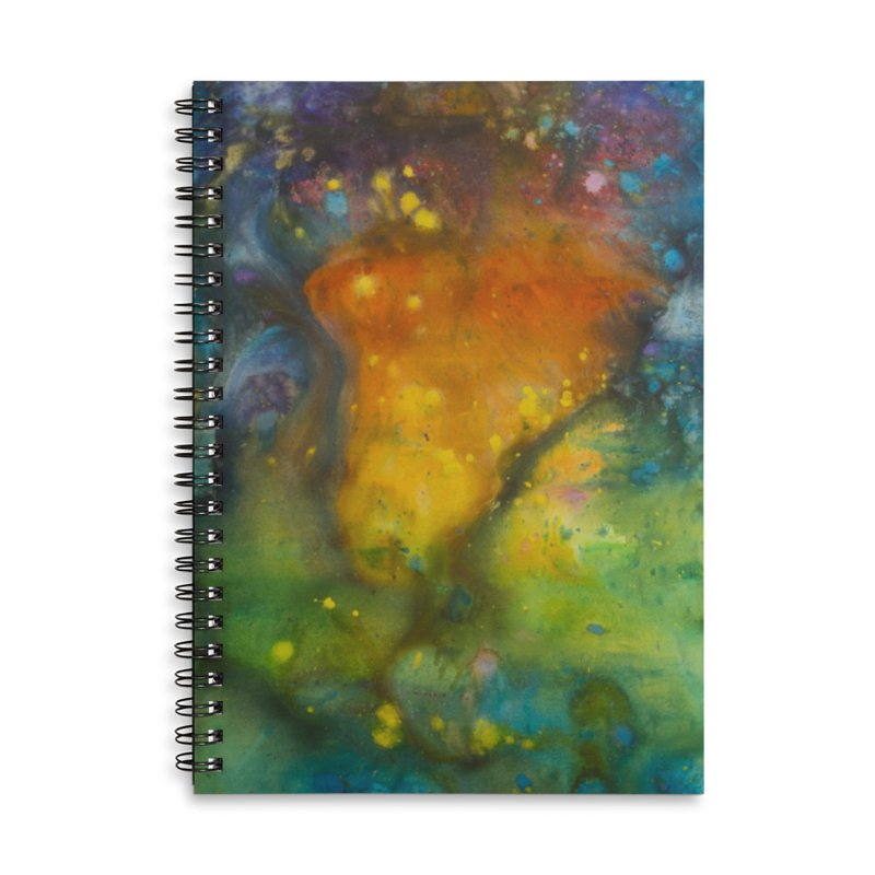 Cosmic Color Accessories Lined Spiral Notebook by kimkirch's Artist Shop