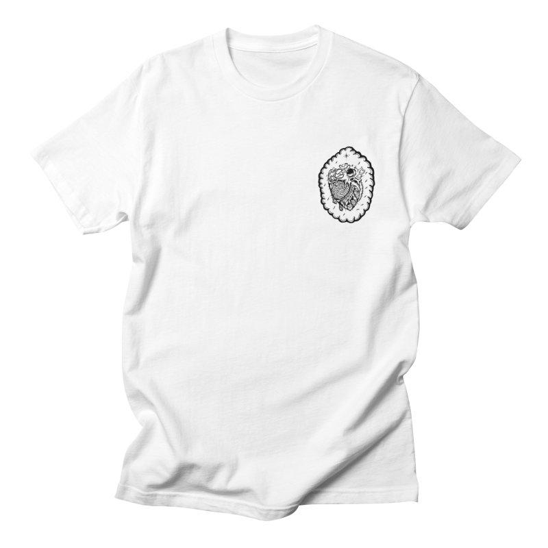 shred heart Men's T-Shirt by kimkirch's Artist Shop
