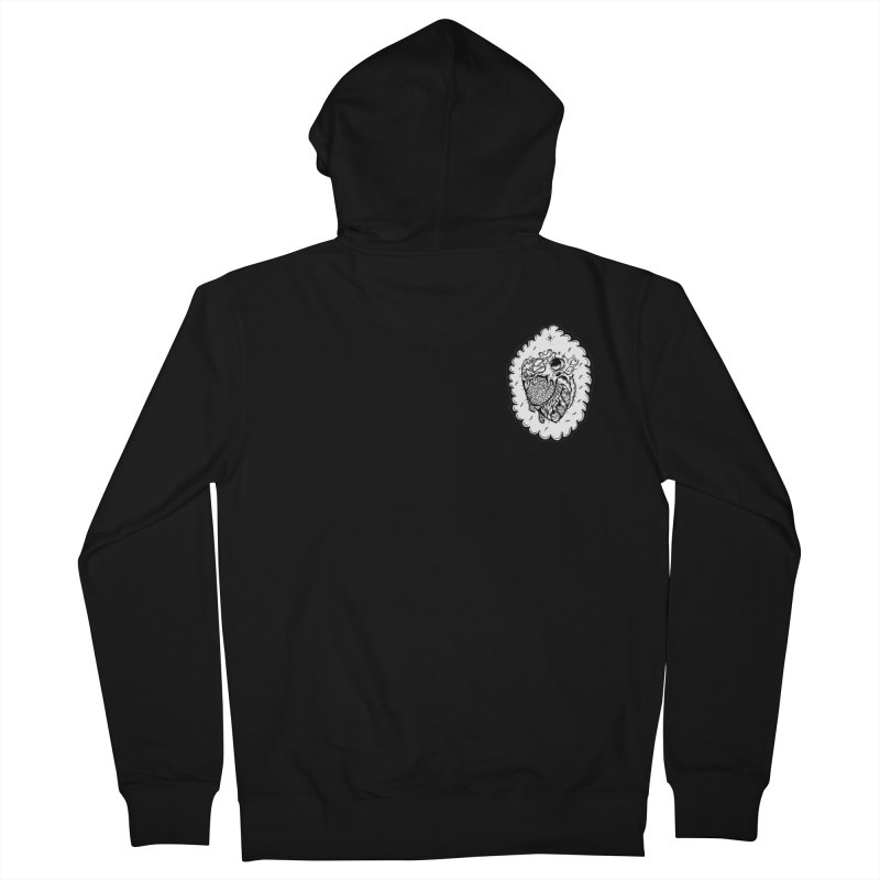 shred heart Men's French Terry Zip-Up Hoody by kimkirch's Artist Shop