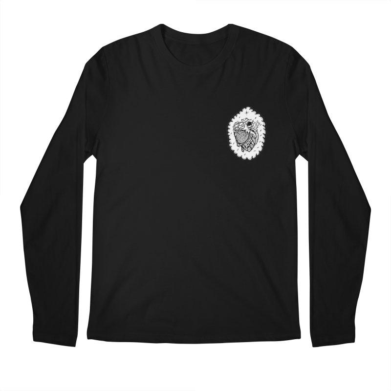 shred heart Men's Regular Longsleeve T-Shirt by kimkirch's Artist Shop