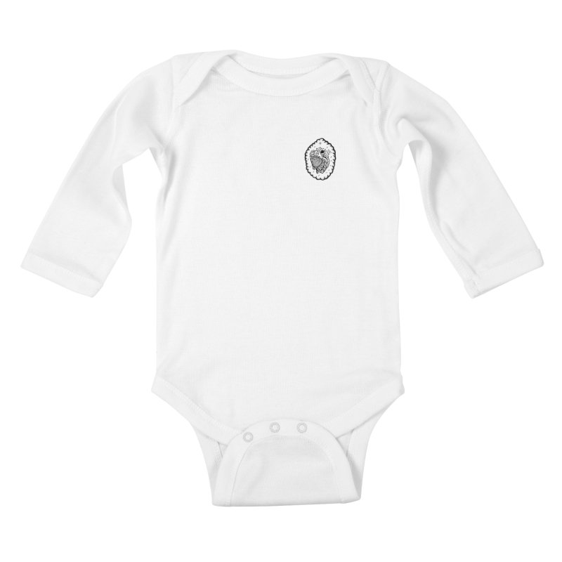 shred heart Kids Baby Longsleeve Bodysuit by kimkirch's Artist Shop