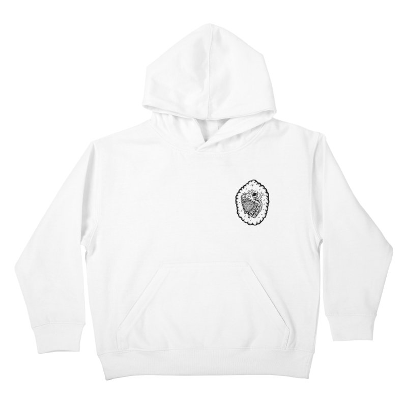 shred heart Kids Pullover Hoody by kimkirch's Artist Shop