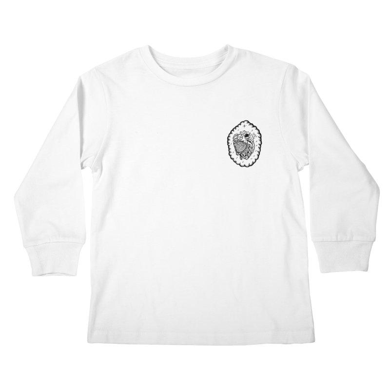 shred heart Kids Longsleeve T-Shirt by kimkirch's Artist Shop