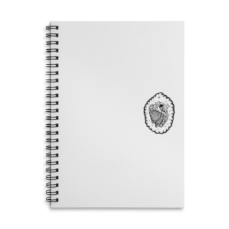 shred heart Accessories Lined Spiral Notebook by kimkirch's Artist Shop