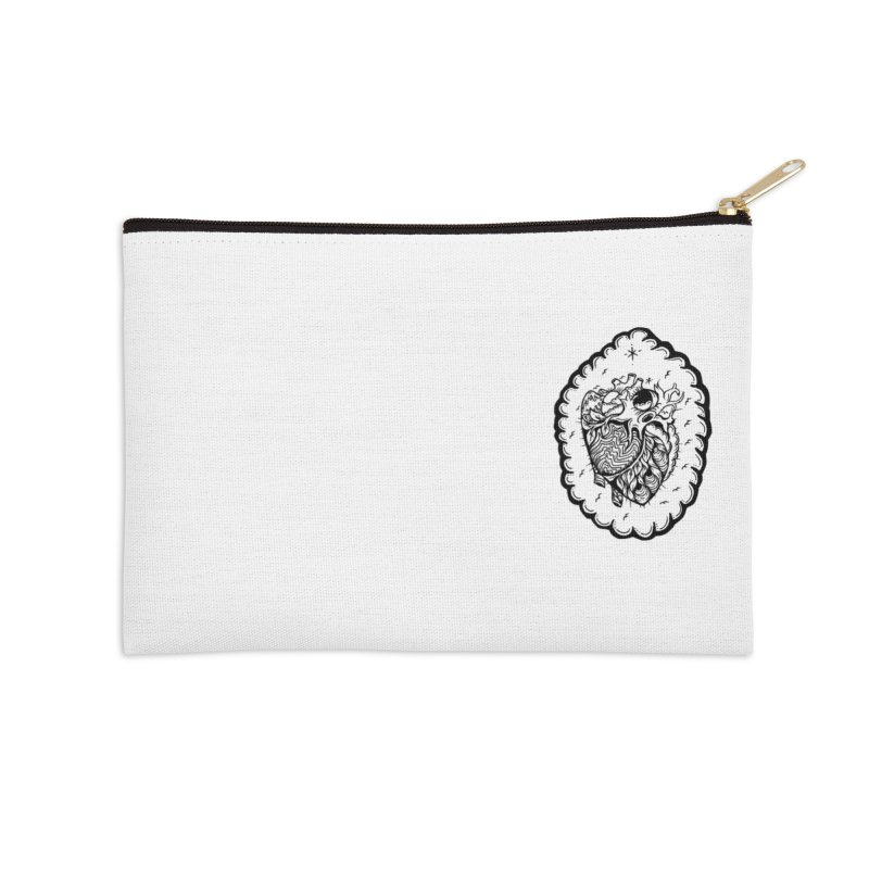 shred heart Accessories Zip Pouch by kimkirch's Artist Shop