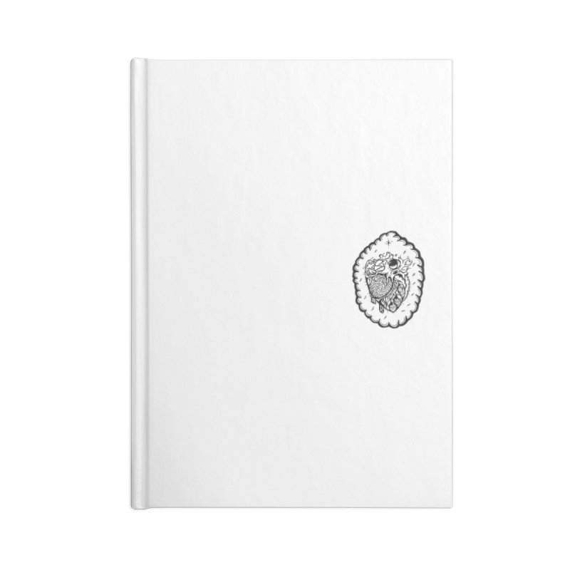 shred heart Accessories Lined Journal Notebook by kimkirch's Artist Shop