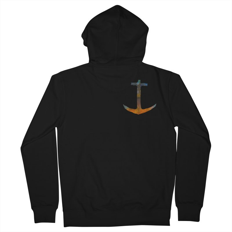anchor Men's French Terry Zip-Up Hoody by kimkirch's Artist Shop