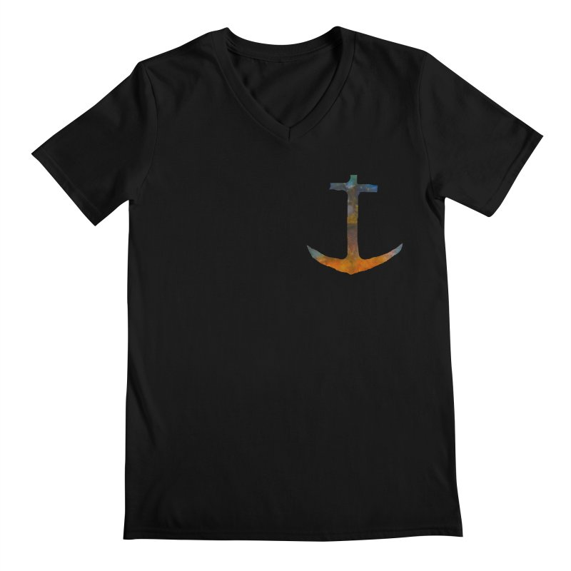 anchor Men's Regular V-Neck by kimkirch's Artist Shop