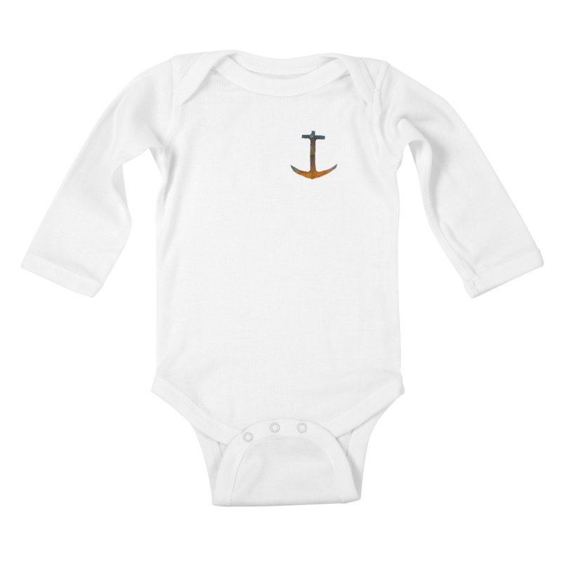 anchor Kids Baby Longsleeve Bodysuit by kimkirch's Artist Shop