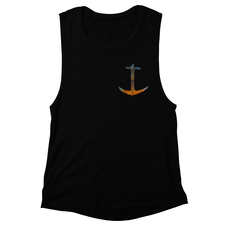 anchor Women's Muscle Tank by kimkirch's Artist Shop
