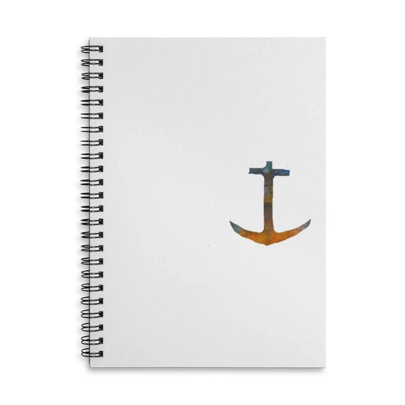 anchor Accessories Lined Spiral Notebook by kimkirch's Artist Shop