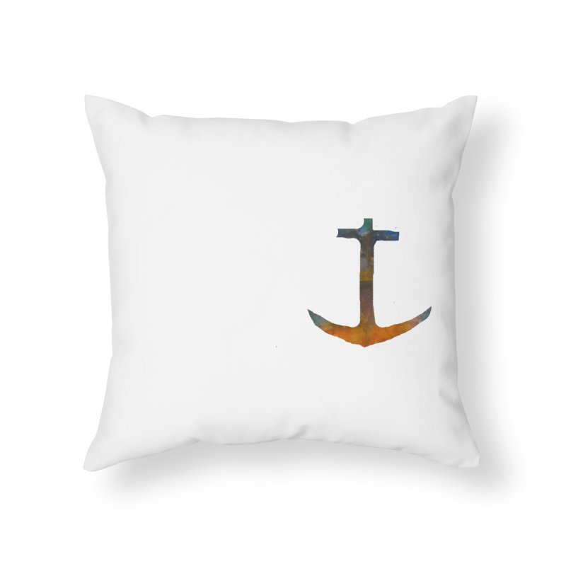 anchor Home Throw Pillow by kimkirch's Artist Shop