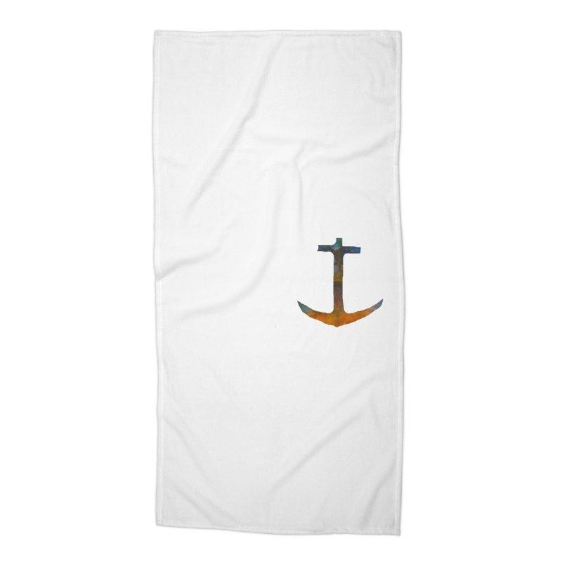 anchor Accessories Beach Towel by kimkirch's Artist Shop