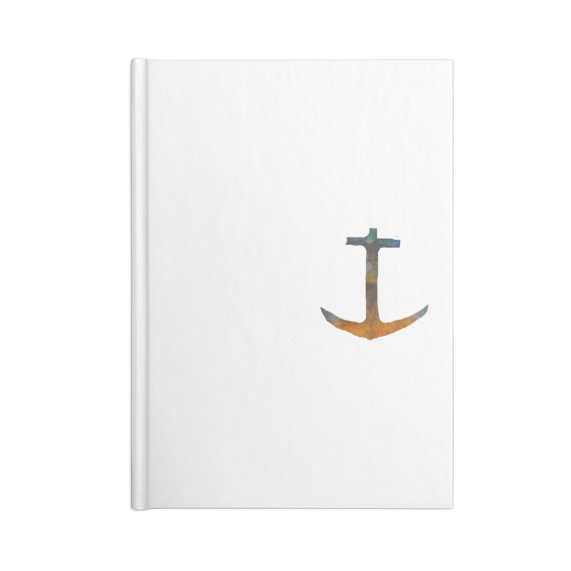 anchor Accessories Lined Journal Notebook by kimkirch's Artist Shop