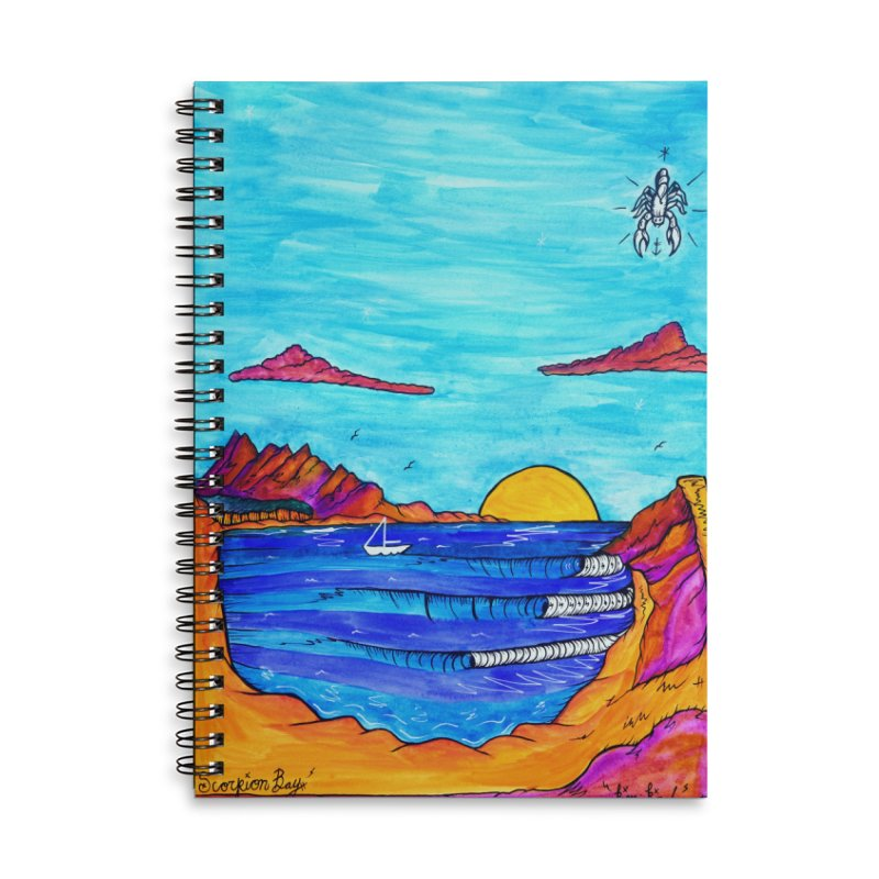 Scorpion Bay Accessories Lined Spiral Notebook by kimkirch's Artist Shop