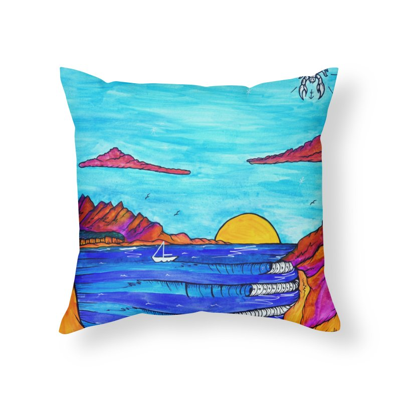 Scorpion Bay Home Throw Pillow by kimkirch's Artist Shop