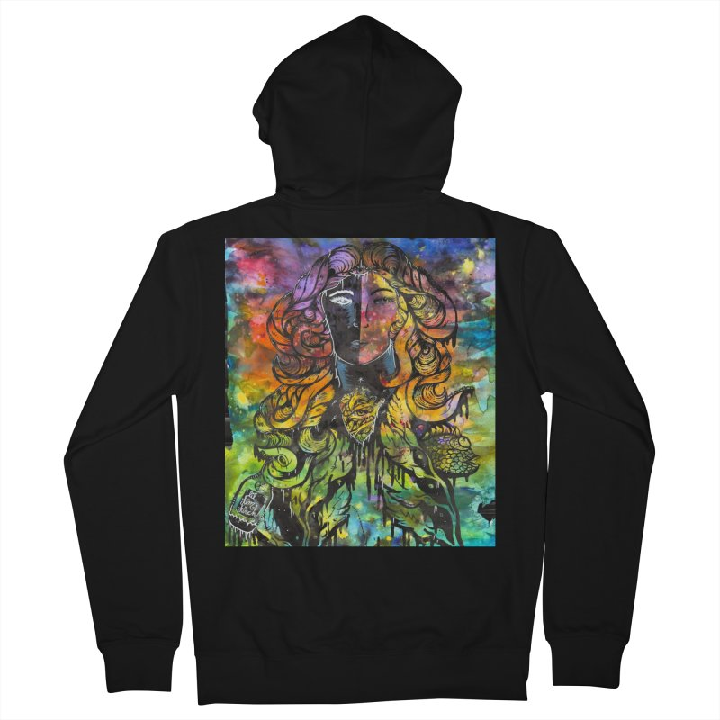 lady Women's French Terry Zip-Up Hoody by kimkirch's Artist Shop