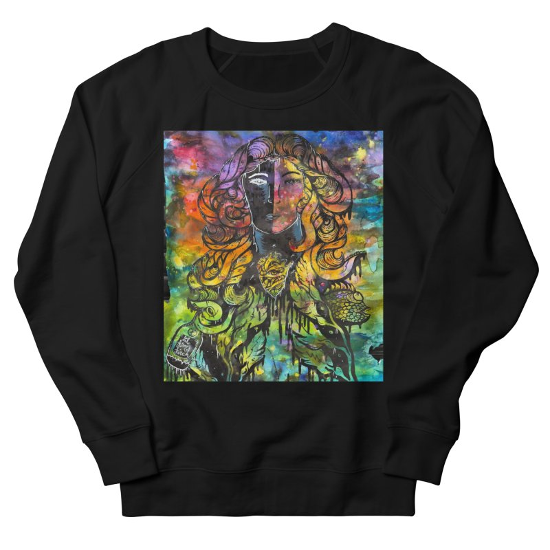 lady Men's French Terry Sweatshirt by kimkirch's Artist Shop