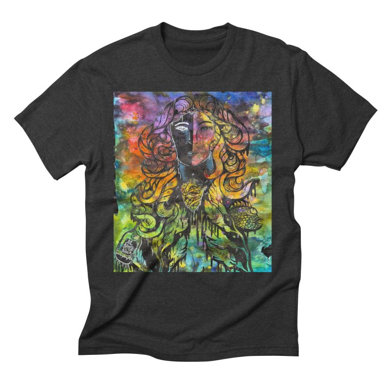 lady Men's Triblend T-Shirt by kimkirch's Artist Shop