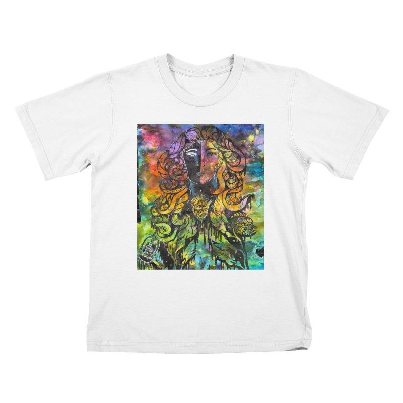 lady Kids T-Shirt by kimkirch's Artist Shop