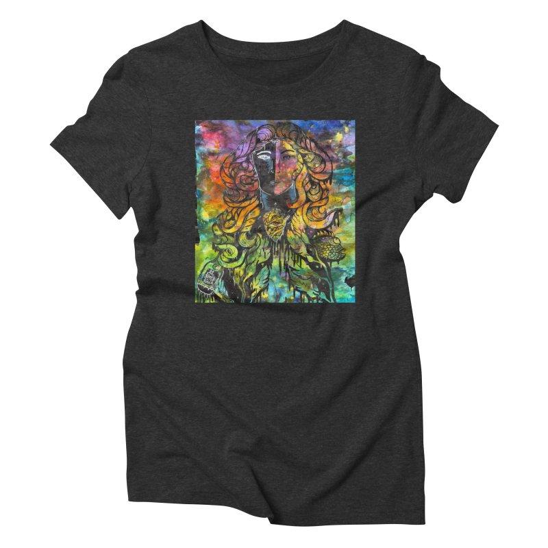 lady Women's Triblend T-Shirt by kimkirch's Artist Shop