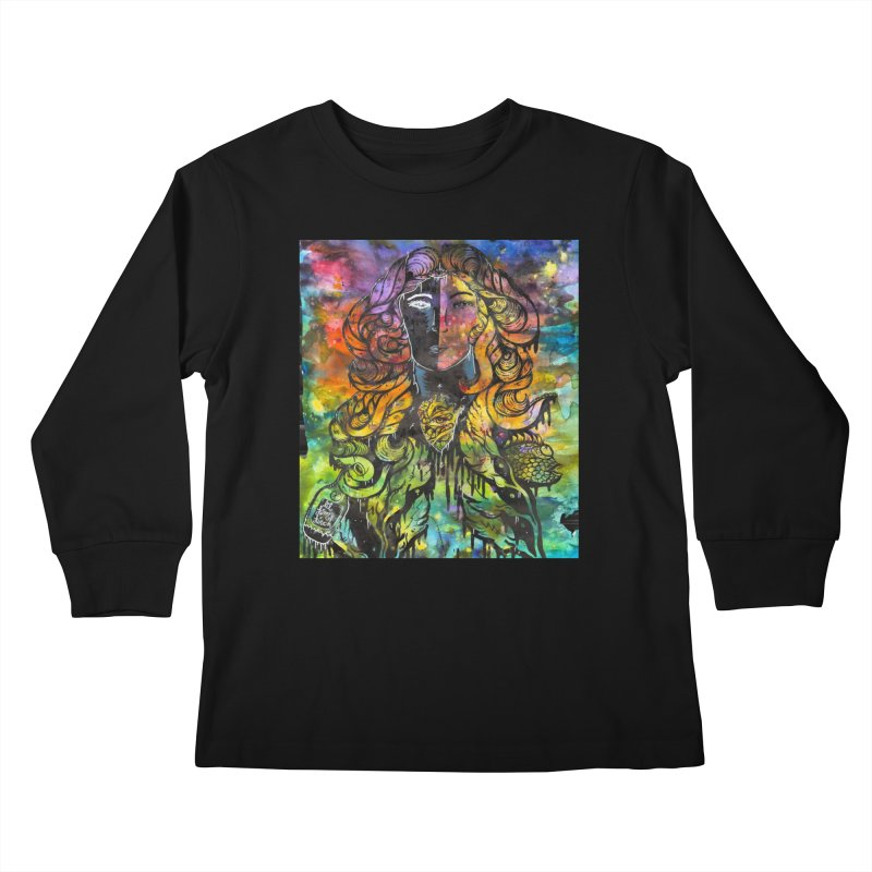 lady Kids Longsleeve T-Shirt by kimkirch's Artist Shop