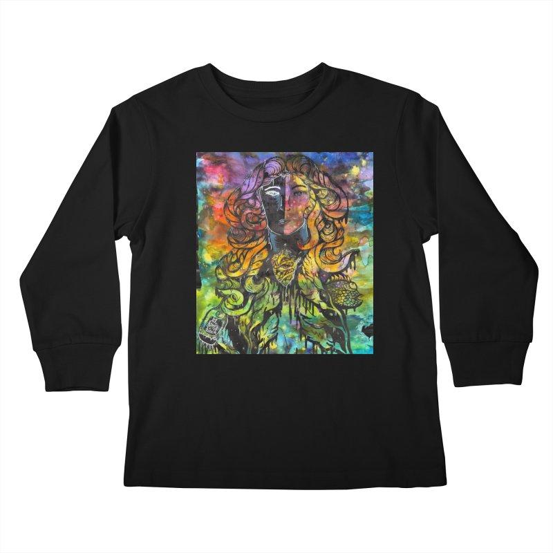 lady Kids Longsleeve T-Shirt by kimkirch's Artist Shop