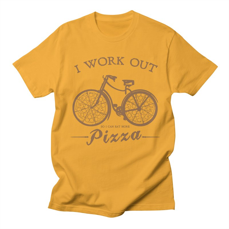 I Work Out in Men's T-shirt Gold by kimkong's Artist Shop