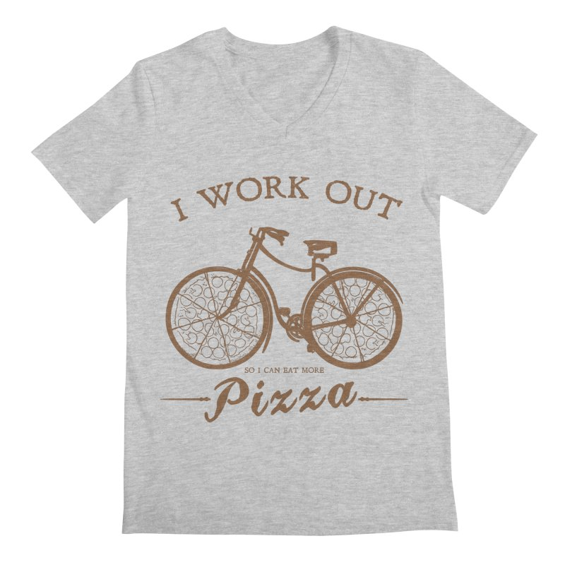 I Work Out Men's V-Neck by kimkong's Artist Shop
